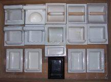 Recessed ceramic accessories...