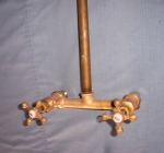 Red Brass Shower Faucet