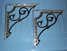 "Sink Brackets, Nickel - 16"" x 18""...$750/pr."