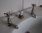 Peck Bros. Basin Taps, Very Good Original Condition...$600/pr.