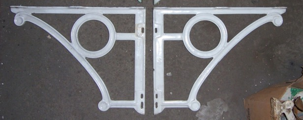 LARGE Enameled Iron Sink Brackets...$190
